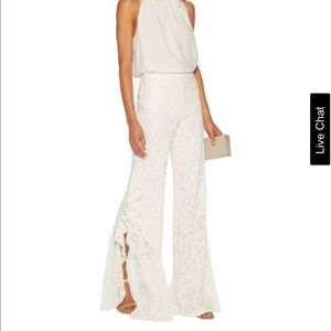 ALEXIS*White Romeo Guipure Lace Pants*Medium*$550